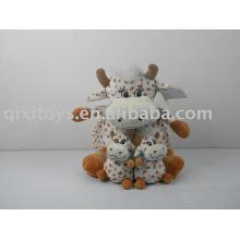 muñeco de felpa stufffed y juguete de vaca bebé