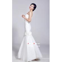Белое свадебное платье с рыбьим хвостом
