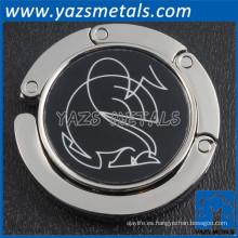 gancho plegable de encargo del monedero del metal