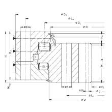 Rothe Erde Internal Gear Triple Row Roller Slewing Ring Bearing