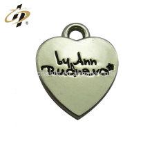 Wholesale promotional custom logo metal silver blank heart shape pendant for lovers