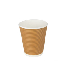 ripple wall paper cup low price customized beverage use ecological