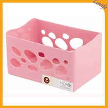Hollow Plastic 4 Colors Available Storage Basket