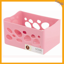 Hollow Plastic 4 Colors Available Storage Basket