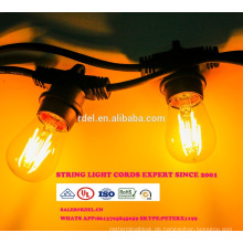 SL-52 Wasserdichte 15 M 15 sockets String Beleuchtung Kommerziellen Klasse E26 E27 Urlaub LED String Licht