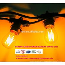 SL-52 imperméable à l'eau 15M 15 sockets cordes éclairage commercial E26 E27 vacances LED String Light