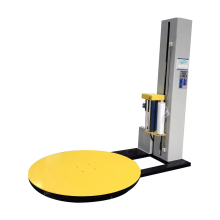 Automatic pallet wrapping machine with high efficiency