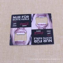 Rectangel Form Metall Edelstahl Kreditkarte Flaschenöffner zum Verkauf