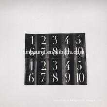 Etiqueta impermeável durável da impressão da etiqueta etiquetas numeradas impermeáveis impressas