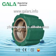 Válvula de retenção de bronze silenciosa tipo wafer de alta qualidade