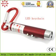 Torche LED en métal personnalisée à mousqueton pour cadeau