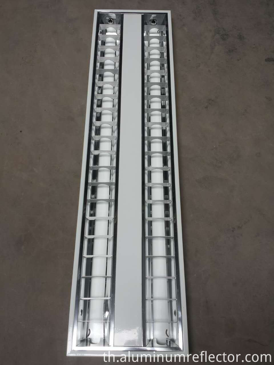 louvered ceiling light panel