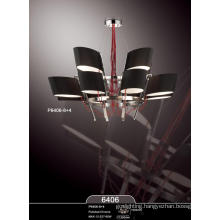 Modern Black Fabric Luxury Generous Pendant Lamp Fixtures (P6406-8+4)