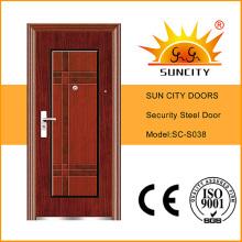 Puertas de acero de diseño económico a ras de fábrica (SC-S038)