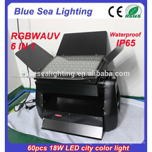 Newest 2015 hot products dmx 6 in 1 rgbwauv outdoor led wall washer