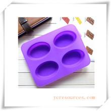 Molde de silicón ovalado de 16 cavidades para jabón, pastel, magdalenas, brownie y más (HA36013)