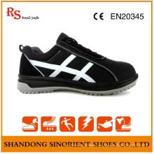 Schwarzer Stahl Sicherheitsschuhe mit guter Qualität Wildleder RS806