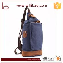 Saco de peito de lona de saco Crossing Bag ao ar livre Europeu Sling Bag de homens