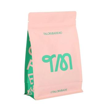 100% Tas Kopi Kertas Kraft Biodegradable Kompos