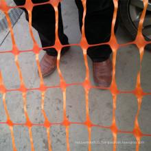 Clôture de barrière en plastique orange