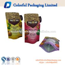 O molho 500ML QUICK COOK levanta-se o saco com bico / empacotamento ereto alinhado alumínio do produto