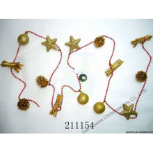 Giftbox Bead strip Chaîne de perles de Noël décoratives