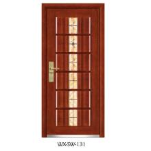 Hochwertiger Niedriger Preis Stahl Holz Tür (WX-SW-131)