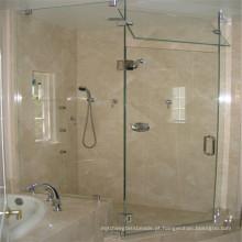 Segurança temperada Vidro transparente para porta de chuveiro de vidro interior
