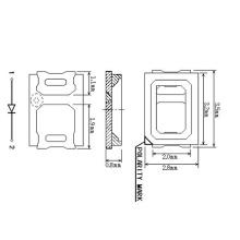1W LED branco SMD 2835 2700-3000-3500K 120 LM