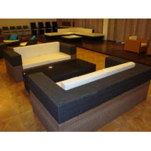 Garden Furniture Black Rattan Sofa Set