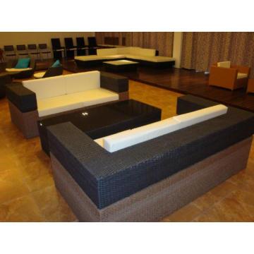 Garden Furniture Black Rattan Sofa Set
