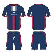 Jersey 100% de football de sublimation de polyester, vêtements faits sur commande de Jersey de football