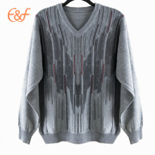 Men Heavy Knit Sweaters Jacquard Patterns Sweater