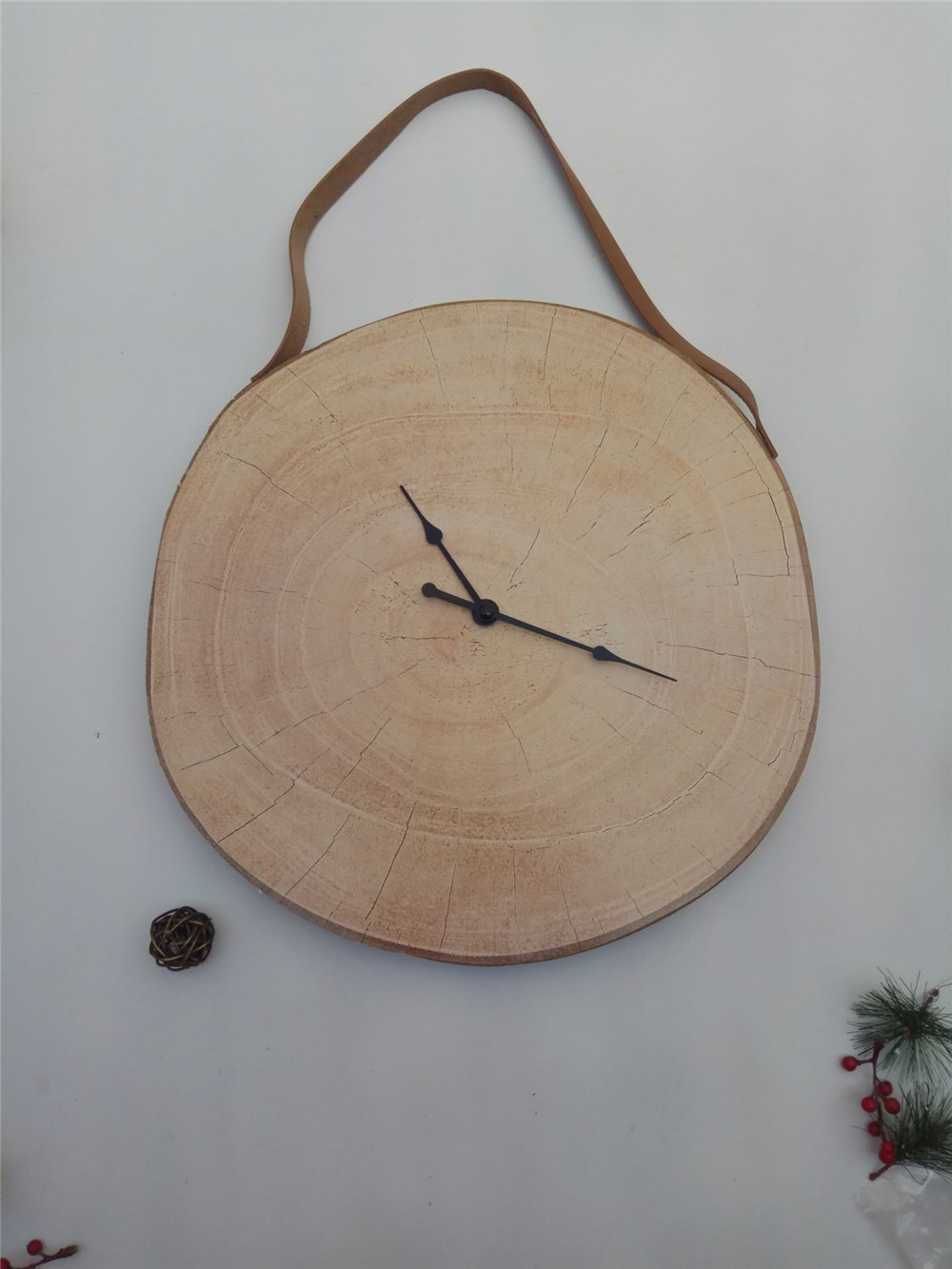 2017 new MDF wooden clock hanging