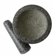 Granit-Mörser und Pistill Set Solid Stone Grinder Bowl für Guacamole Herbs Gewürz