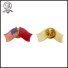 US flag english metal emblem pins