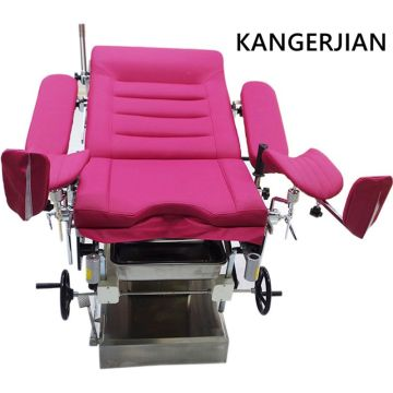 CE+Electrical+Stainless+Steel+Gynecology+Table+for+Hospital