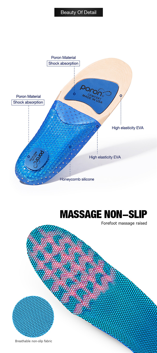 PORON sports insole Beauty of detail
