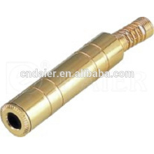 Daier Gold Plated Conector estéreo