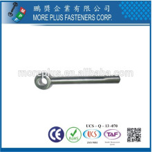 Made in Taiwan Stainless Steel DIN444 Small Size M3 Eye Bolt