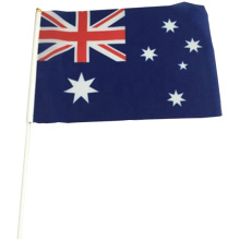Custom National Polyester promotional Australia hand flag
