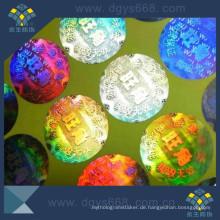 Grüner materieller Haustier-Hologramm-Aufkleber