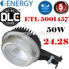 DLC ETL photocell conduit crépuscule à Dawn grange lumière 20w-70w LED réverbère & lumière de la cour et led sécurité lumière 50 w avec photocellule