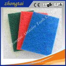 bunte Aluminiumoxid / Siliziumkarbid 4 '' * 8 '' / 5 '' * 9 '' / 6 '' * 9 '' Küche mit nicht-abrasive Scheuerschwamm