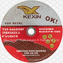 T41 Discos de corte abrasivos reforzados para metal