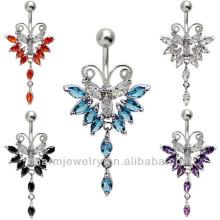 Elegante joya del cuerpo del anillo del vientre de la mariposa Piercing BER-002