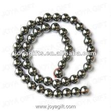 Perles rondes d'hématite magnétique en vrac de 9MM 16 po