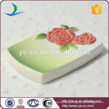 YSb40002-01-sd Conjunto de banheiro cerâmico verde, prato de sabão banheiro acessório