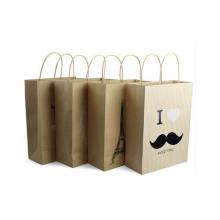 Sacos de papel promocionais Kraft com design personalizado