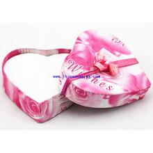 Alta qualidade coração forma presente embalagem caixa de papel para jóias